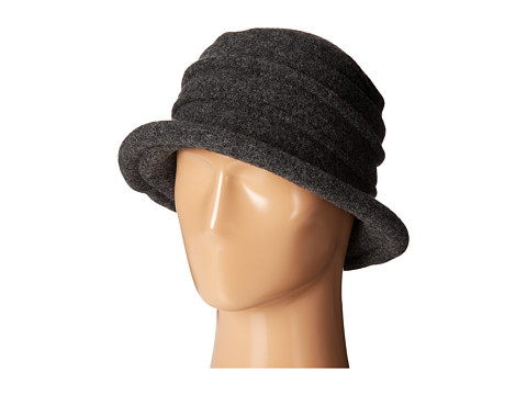SCALA Packable Wool Felt Cloche - Charcoal