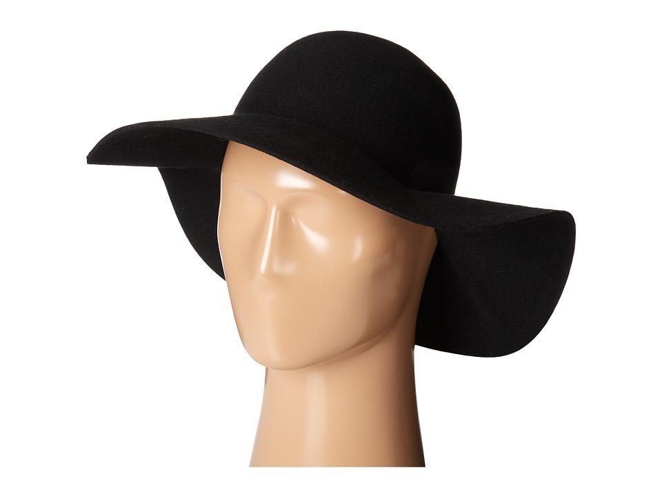 SCALA Wool Felt Big Brim Hat Black Caps