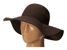 SCALA Wool Felt Big Brim Hat (Chocolate)