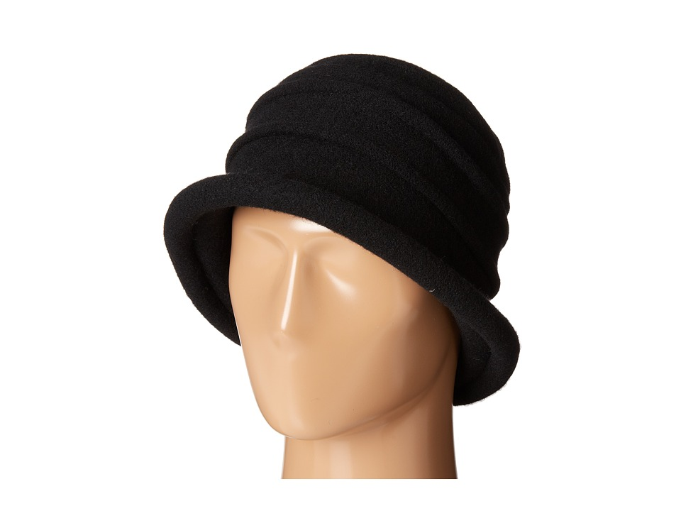 SCALA - Packable Wool Felt Cloche Black Caps $27.50 AT vintagedancer.com