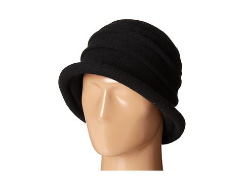 SCALA Packable Wool Felt Cloche - Black