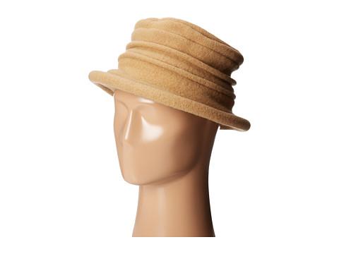 SCALA Packable Wool Felt Cloche - Camel