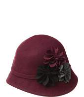 SCALA - Wool Felt Cloche with Assorted Flowers