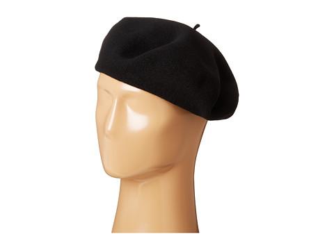 SCALA Wool Basque Beret - Black