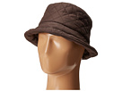 SCALA Quilted Rain Bucket Hat w/ Fleece Lining (Chocolate)