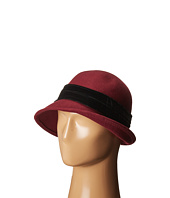 SCALA - Wool Felt Cloche w/ Velvet Trim and Bow