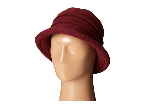 SCALA Packable Wool Felt Cloche - Wine