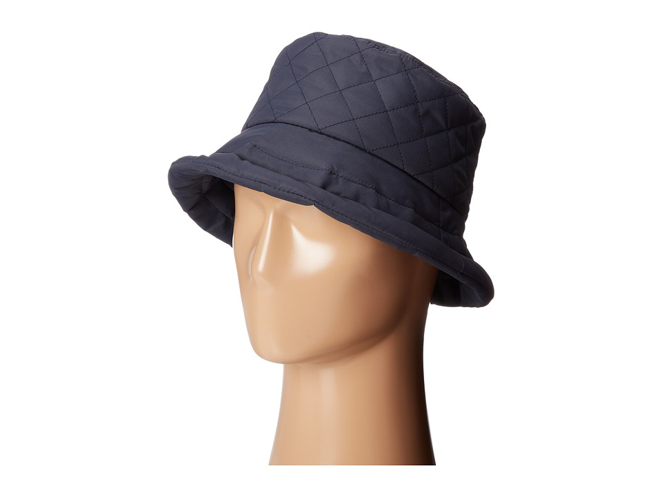 SCALA Quilted Rain Bucket Hat w/ Fleece Lining Navy Caps