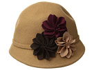 SCALA Wool Felt Cloche with Assorted Flowers