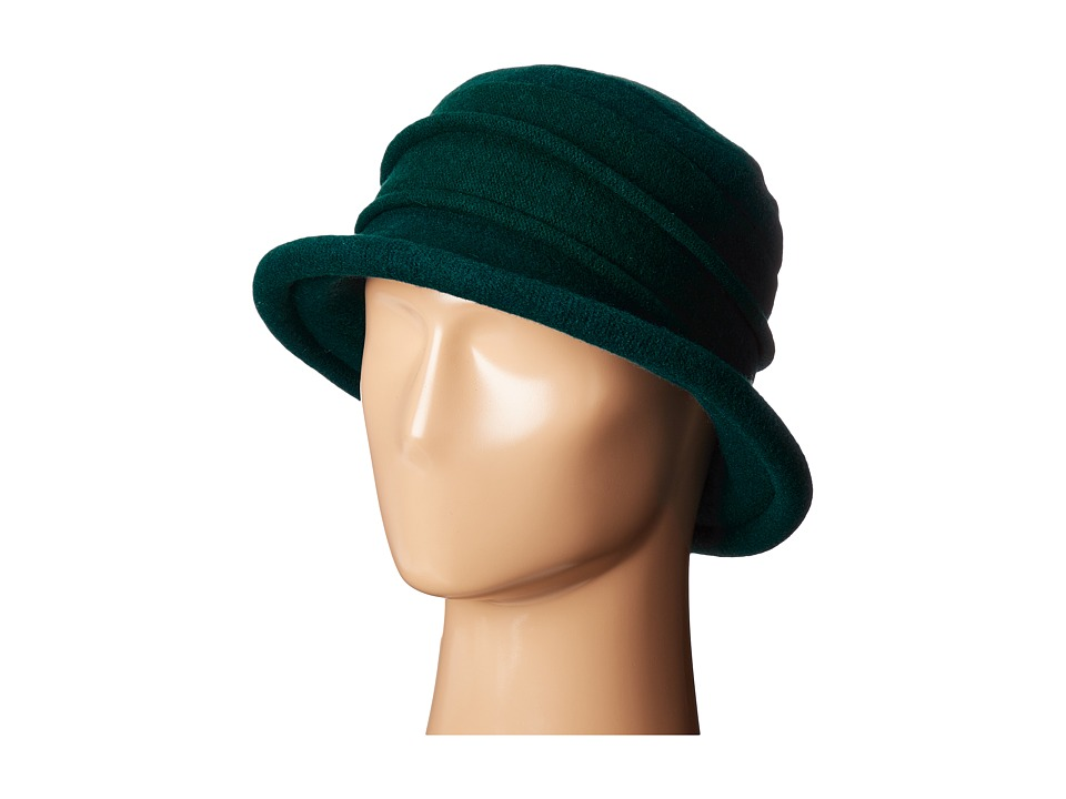 1930s Style Hats – New Vintage Inspired Designs SCALA - Packable Wool Felt Cloche Teal Caps $27.50 AT vintagedancer.com