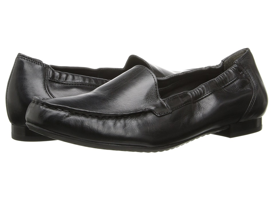 Paul Green Camm Black Leather Womens Slip on Shoes
