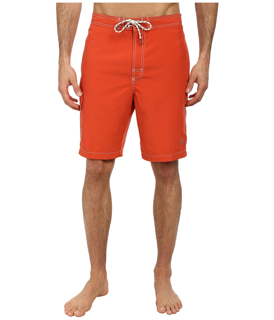 Tommy Bahama - The Baja Poolside 9 Swim Trunks (Red Hot) Mens Swimwear