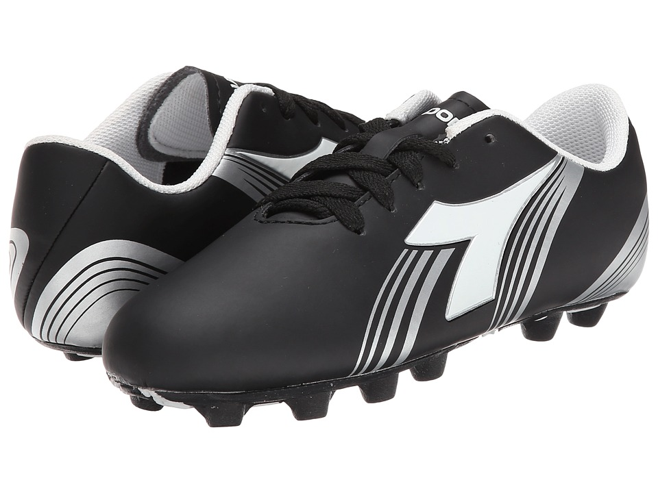Diadora Kids Avanti MD PU Soccer Toddler/Little Kid/Big Kid Black/White Kids Shoes