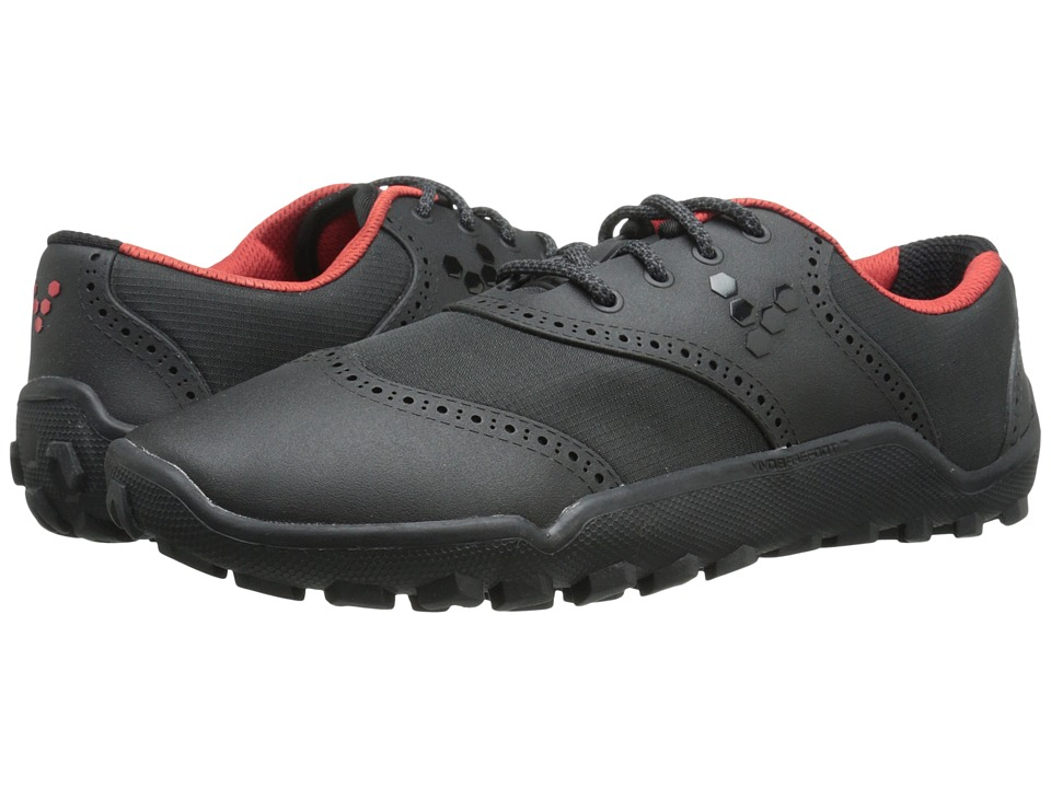 Vivobarefoot Linx Black/Red Mens Golf Shoes