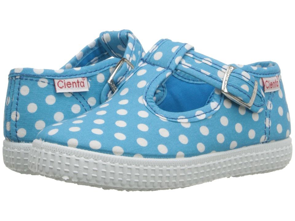 Cienta Kids Shoes 51088 Infant/Toddler/Little Kid/Big Kid Turquoise Dot Girls Shoes