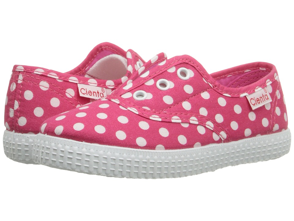 Cienta Kids Shoes 55088 Infant/Toddler/Little Kid/Big Kid Fuchsia Dot Girls Shoes