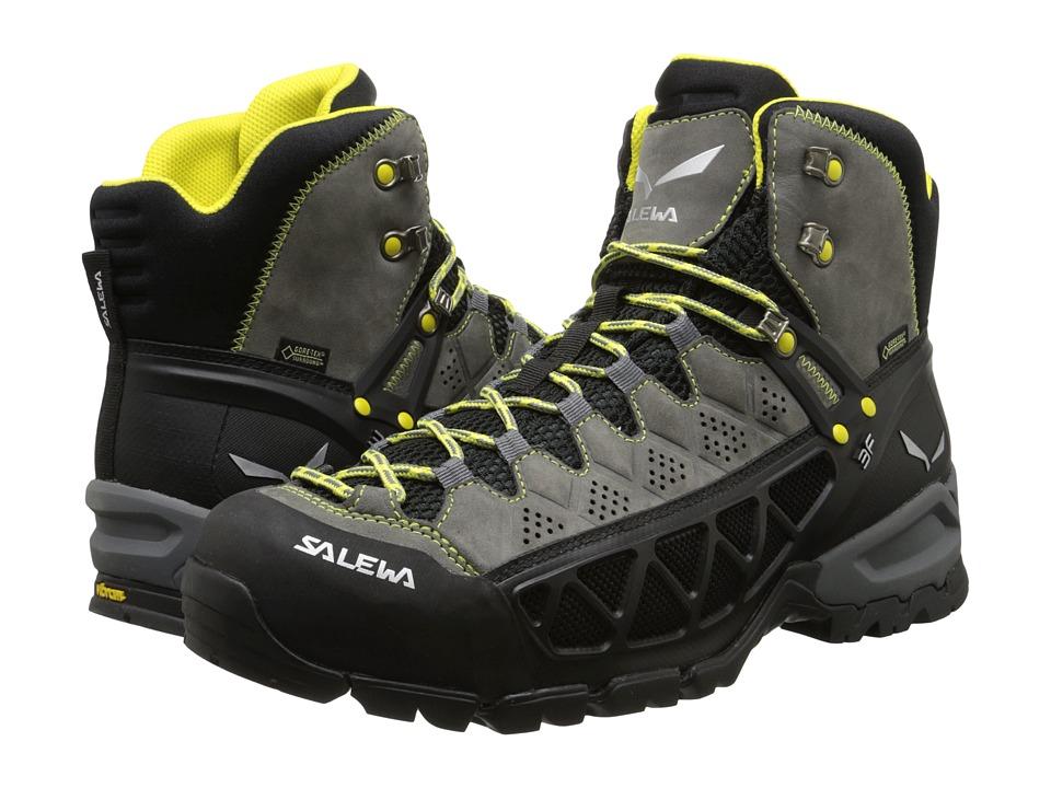 SALEWA Alp Flow Mid GTX Smoke/Yellow Mens Shoes