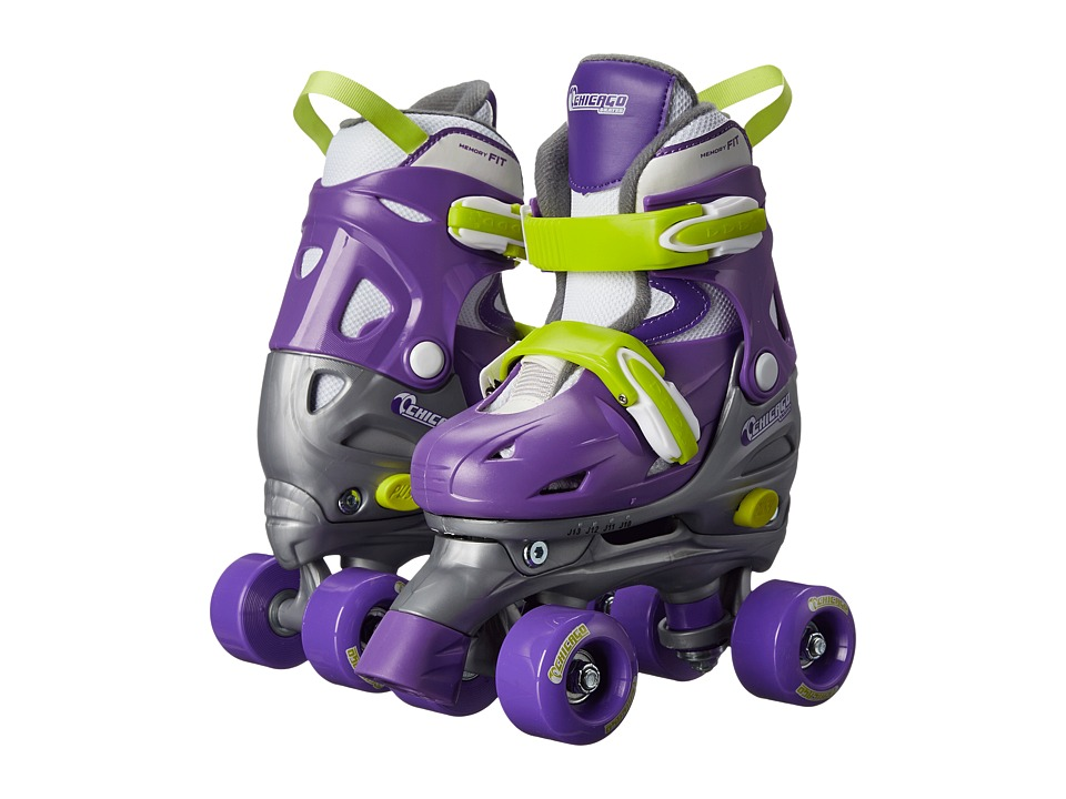 Chicago Skates Adjustable Quad Toddler/Little Kid/Big Kid Purple/Silver Womens Shoes