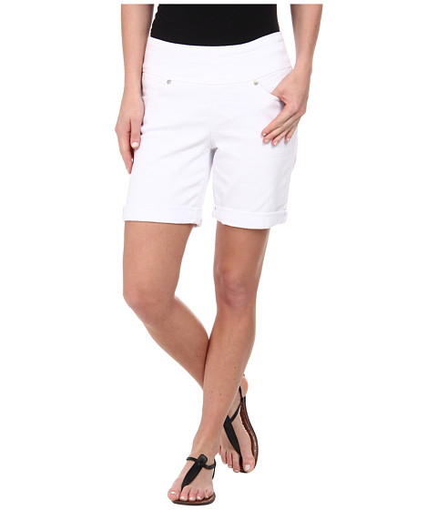 Jag Jeans - Jordan Pull-On Relaxed Fit White Denim Short (White) Women's Shorts