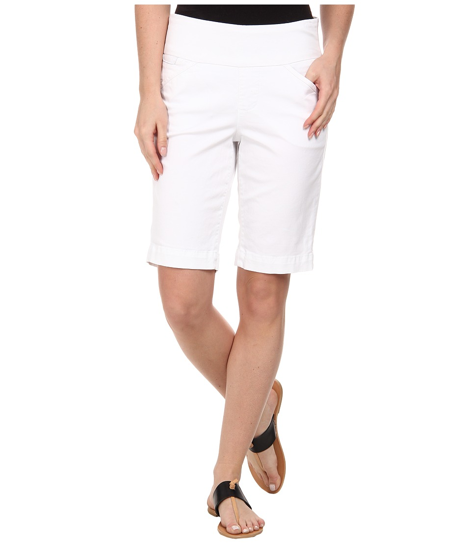 Jag Jeans Ainsley Bermuda Classic Fit Bay Twill White Womens Shorts