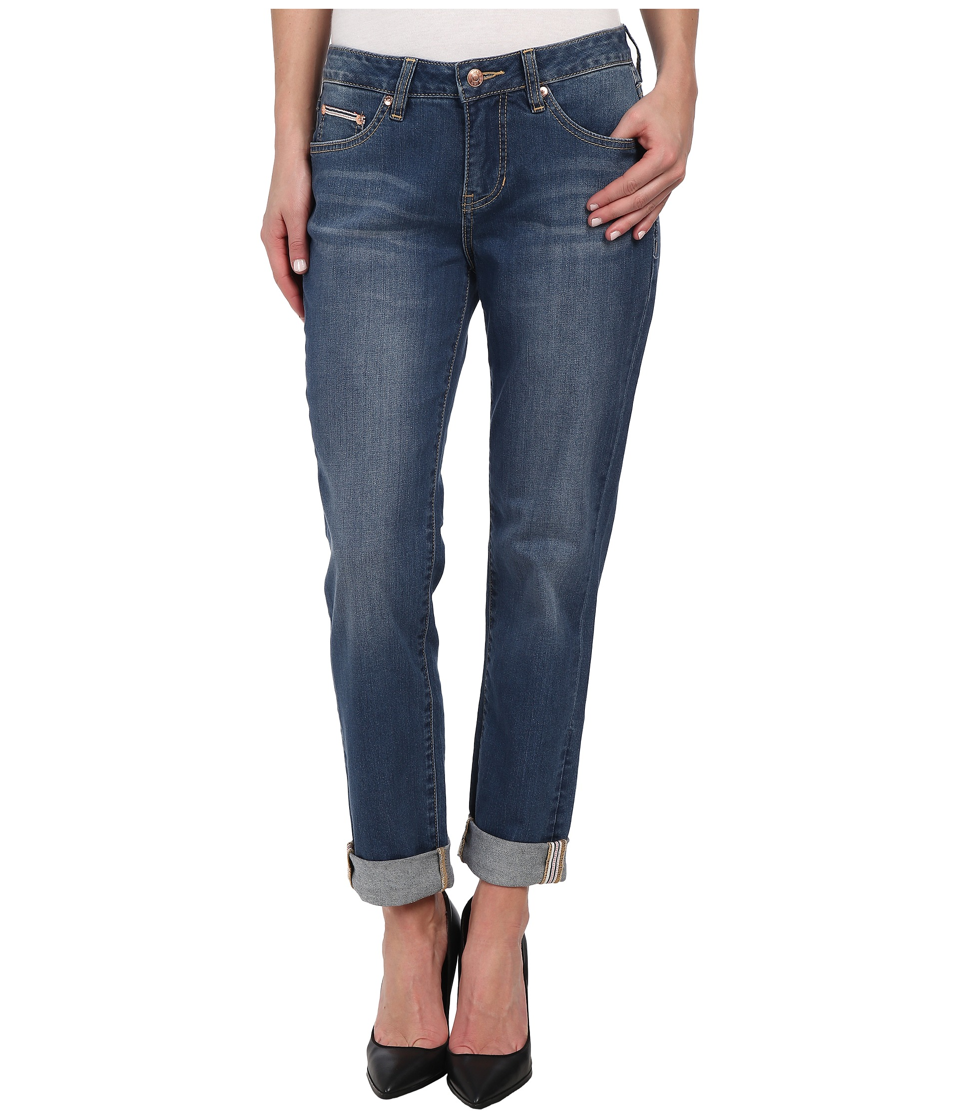 Jag Jeans Henry Relaxed Boyfriend in Forever Blue - Zappos.com Free Shipping BOTH Ways