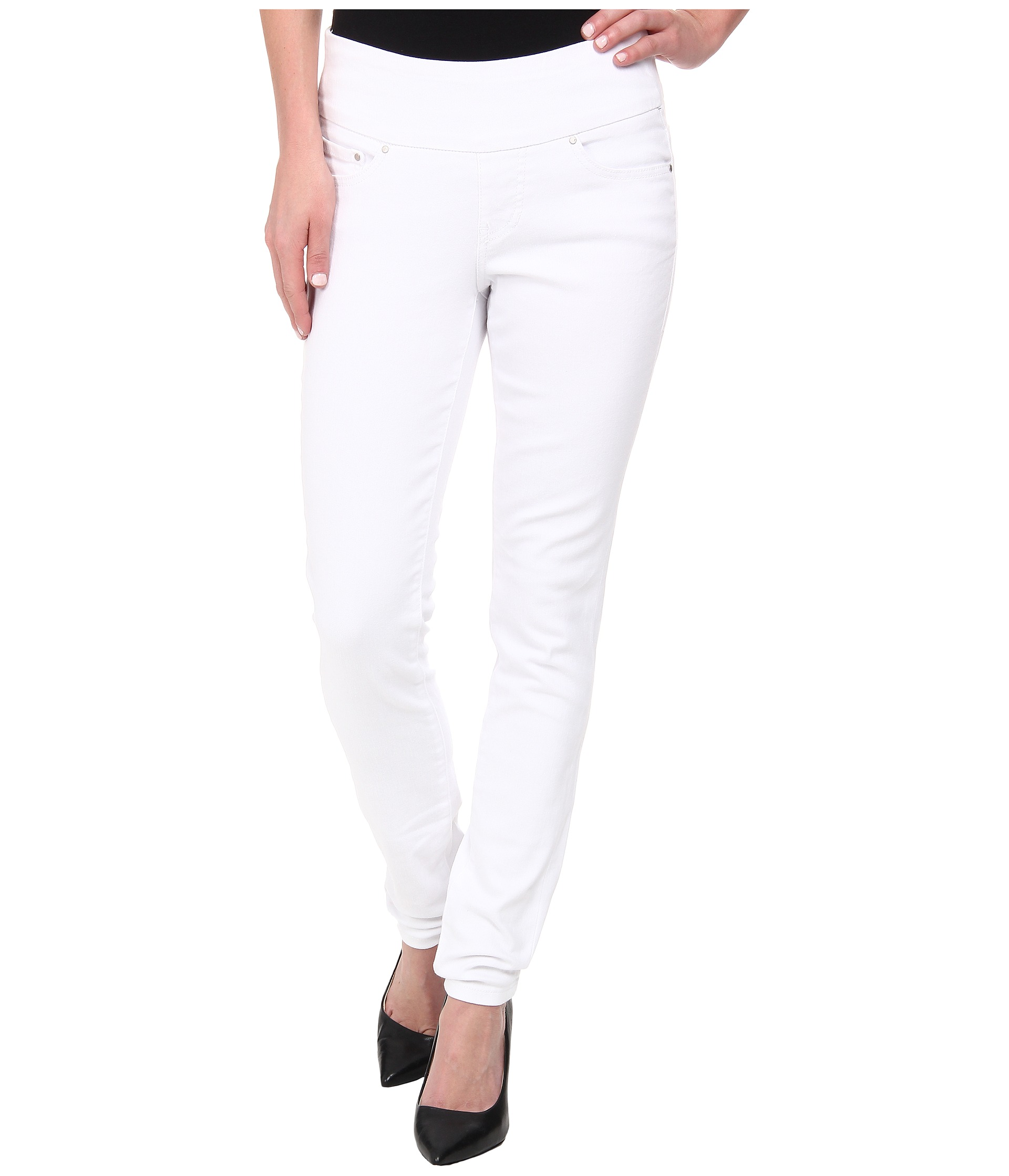 Jag Jeans Nora Skinny Pull-on in White at Zappos.com