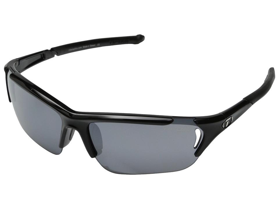 Tifosi Optics Radiustm FC Interchangeable (Gloss Black) Athletic Performance Sport Sunglasses