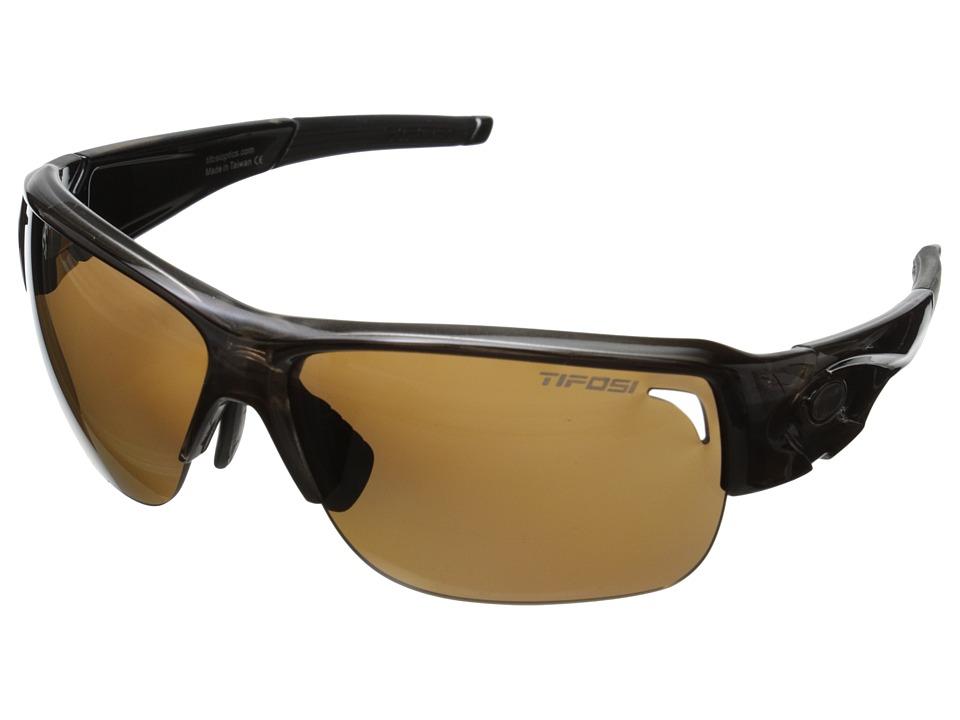 Tifosi Optics Elder Polarized (Crystal Brown) Polarized Sport Sunglasses