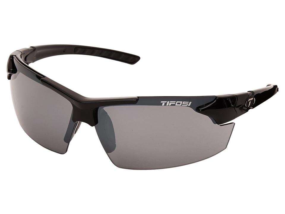 Tifosi Optics Jettm FC (Gloss Black) Athletic Performance Sport Sunglasses
