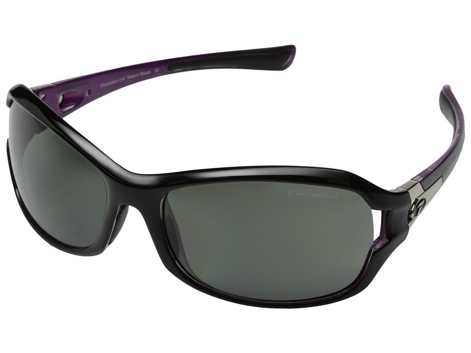 Tifosi Optics Deatm SL Polarized (Black/Pink) Athletic Performance Sport Sunglasses