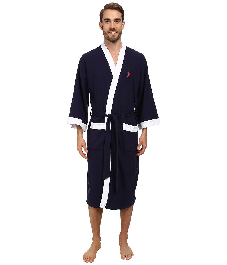 Jockey - Waffle Kimono (Navy With White Trim) Mens Robe
