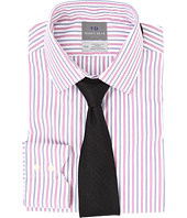 Thomas Dean & Co. - Non-Iron L/S Woven Dress Shirt w/ Point Collar Multi Stripe