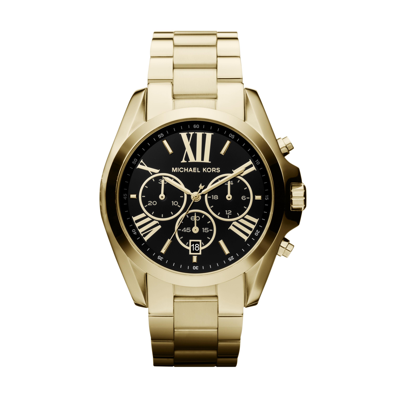 Michael Kors MK5739 Bradshaw Gold/Black Analog Watches