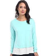 Calvin Klein - L/S Top w/ Crepe De Chine Bottom