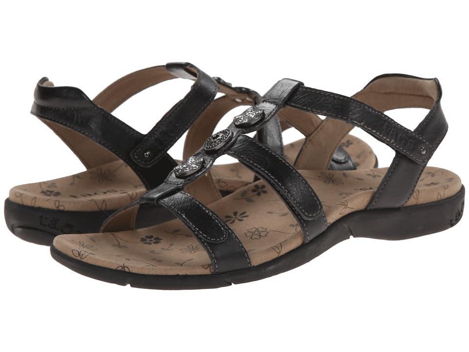 taos Footwear Natural Black Womens Sandals