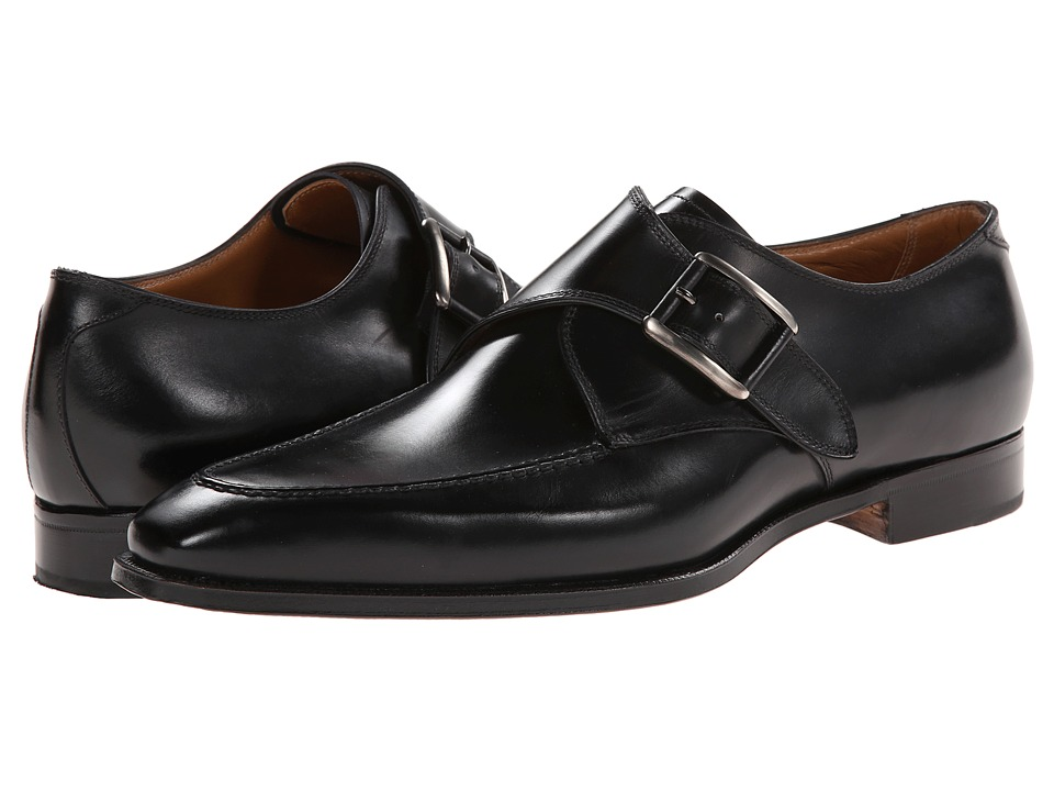 Gravati - Calf Leather Buckle Monk Strap (Black) Mens Monkstrap Shoes