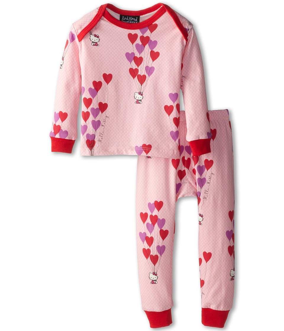 BedHead Kids Hello Kitty Stretch L/S PJ (Infant) (Hello Kitty Floating Hearts) Girl's Pajama Sets