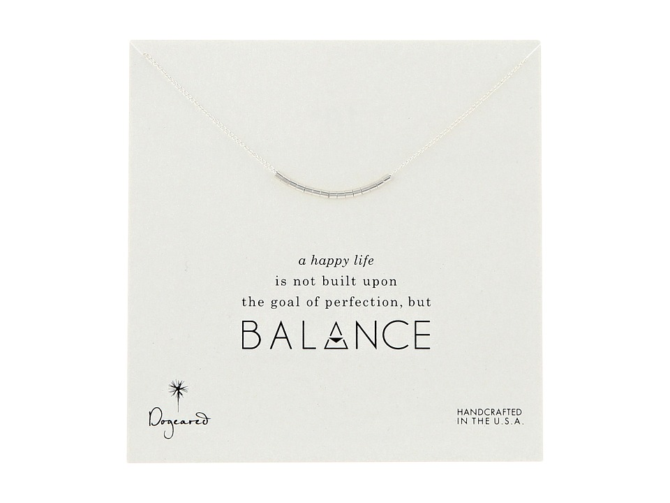Dogeared Balance Smooth Bead Necklace Sterling Silver Necklace