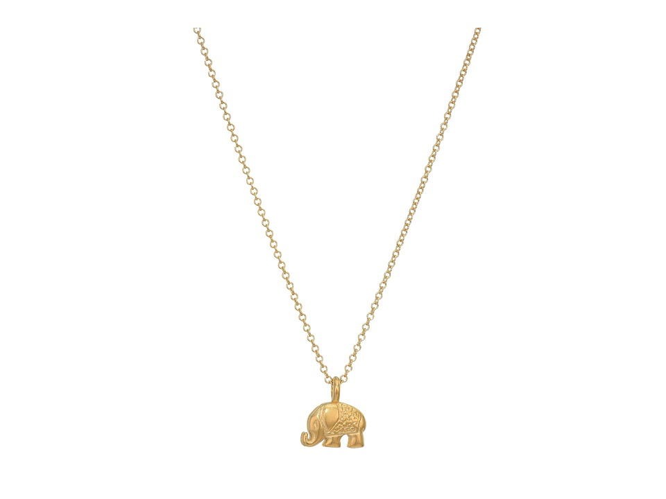 Dogeared Lucky Us Elephant Reminder Necklace Gold Dipped Necklace