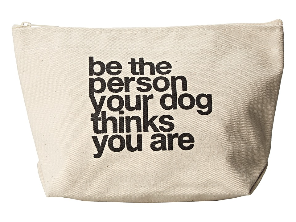 Dogeared Be The Person Your Dog Thinks You Are Lil Zip Canvas Handbags