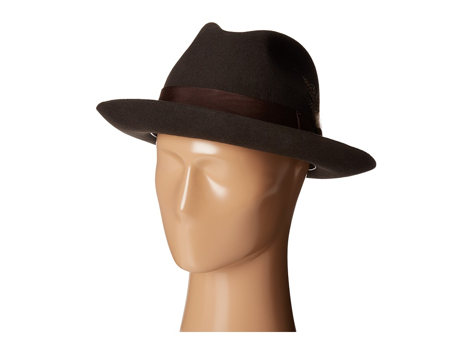 1940s Mens Clothing Stacy Adams - Wool Felt Fedora w Grosgrain Band Black Fedora Hats $45.99 AT vintagedancer.com