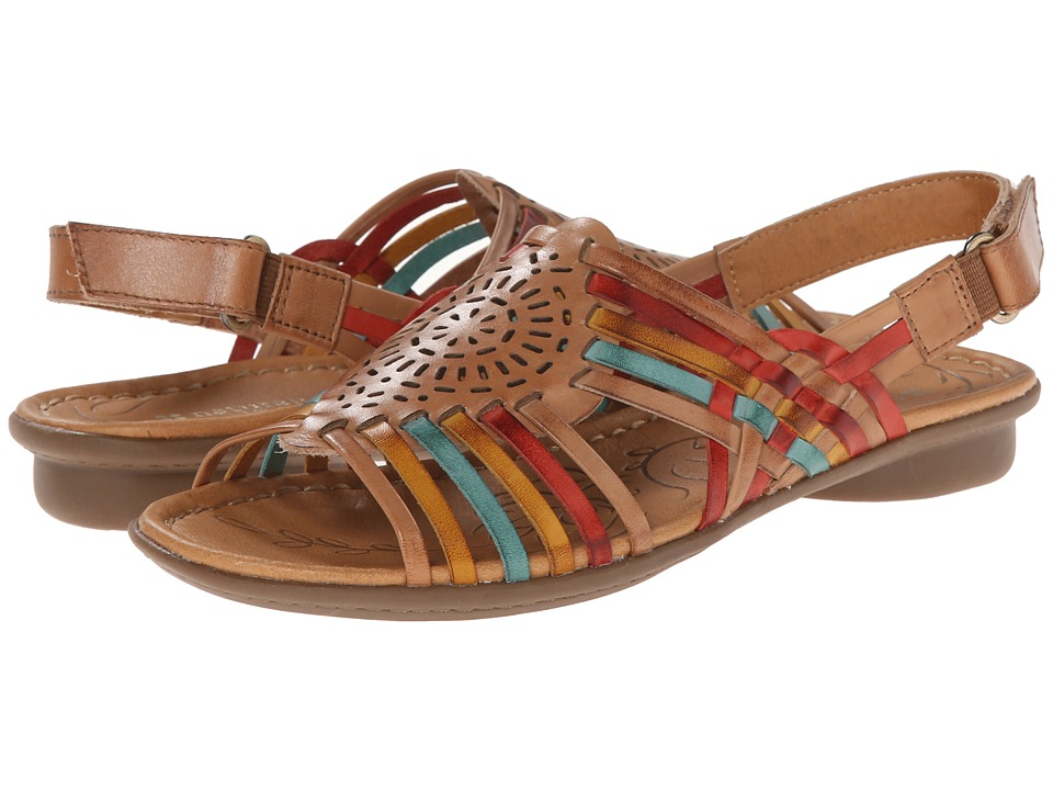 Naturalizer Wendy (Camelot/Red/Yellow/Turquoise Leather) Sandals