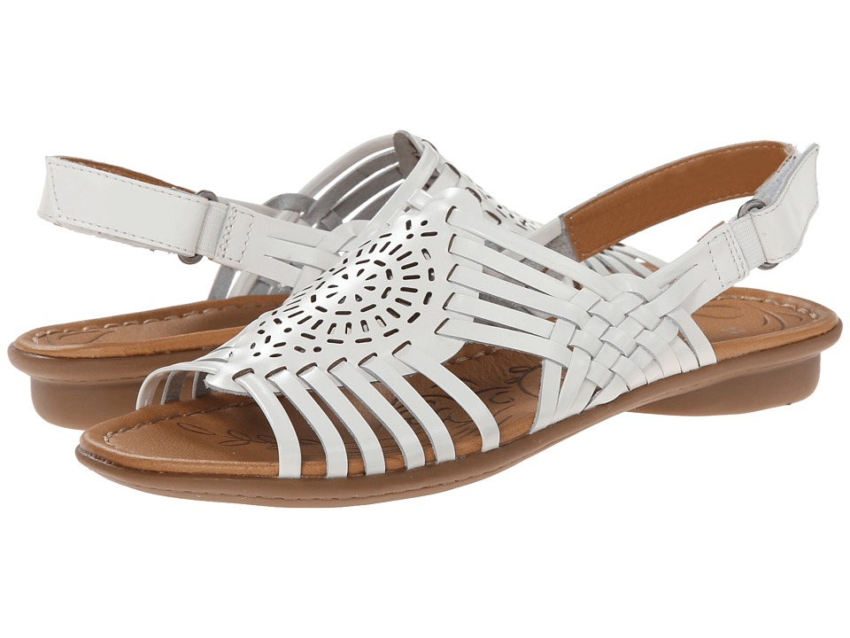Naturalizer Wendy (White Leather) Sandals