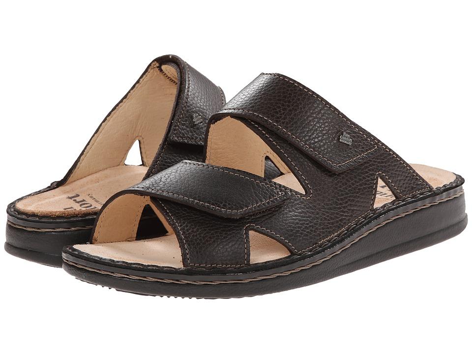 Finn Comfort Danzig S Dark Brown Mens Slide Shoes