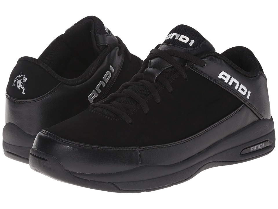 AND1 Coach Low (Black/Black) Men