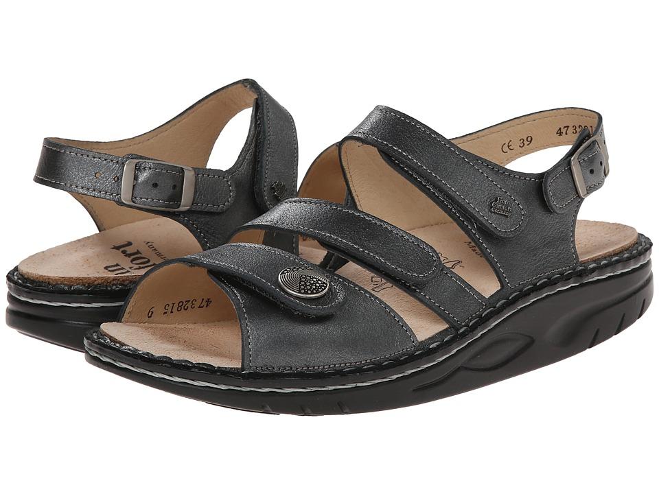 Finn Comfort Tiberias Pewter Womens Toe Open Shoes