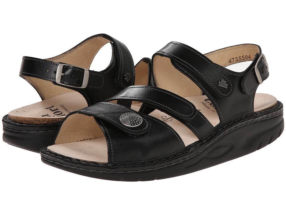 Finn Comfort Tiberias Black Womens Toe Open Shoes
