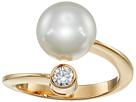 Majorica - 10mm Pearl & CZ Wrap Ring