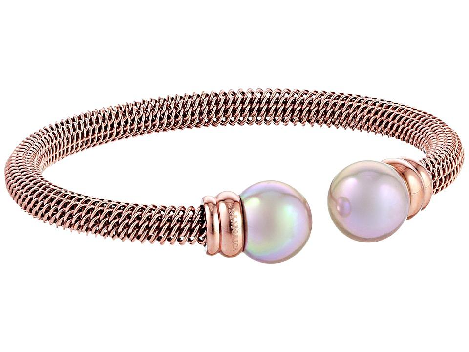 Majorica Steel Bangle Bracelet Rose/Nuage Bracelet