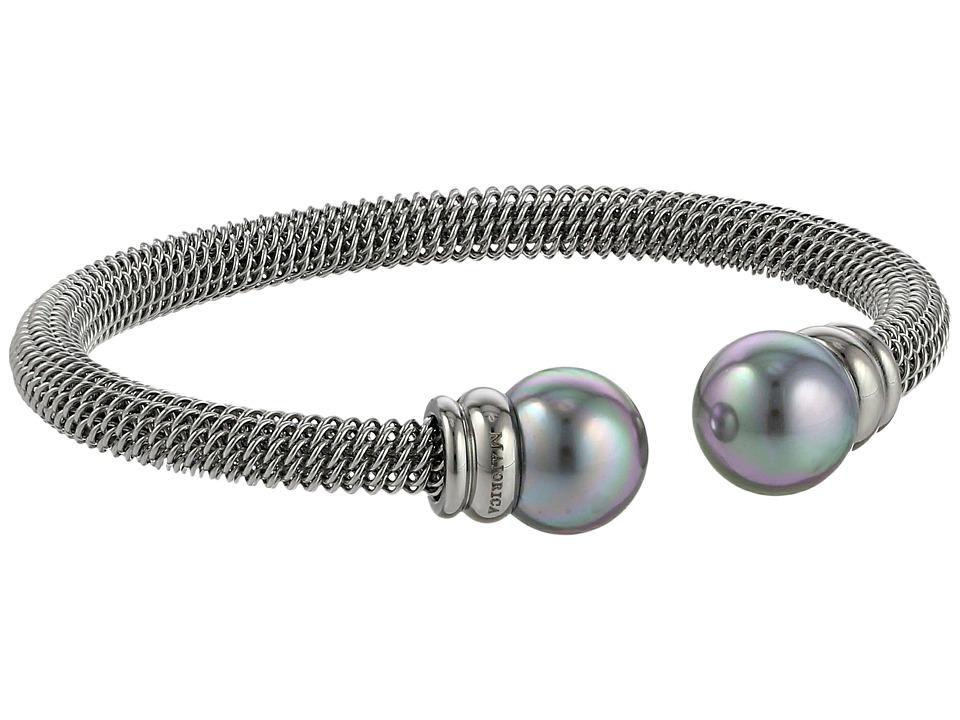 Majorica Steel Bangle Bracelet Silver/Gray Bracelet